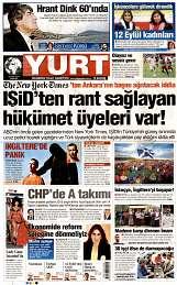 15 Eylül 2014 Tarihli Yurt Gazetesi