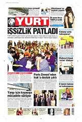 16 Eylül 2014 Tarihli Yurt Gazetesi
