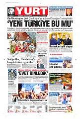 18 Ağustos 2014 Tarihli Yurt Gazetesi