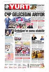 19 Ağustos 2014 Tarihli Yurt Gazetesi