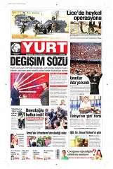 20 Ağustos 2014 Tarihli Yurt Gazetesi