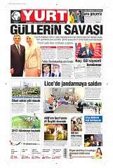 21 Ağustos 2014 Tarihli Yurt Gazetesi