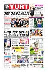23 Ağustos 2014 Tarihli Yurt Gazetesi