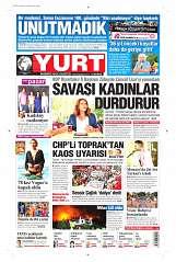 24 Ağustos 2014 Tarihli Yurt Gazetesi