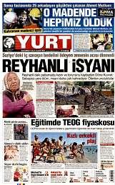 25 Ağustos 2014 Tarihli Yurt Gazetesi