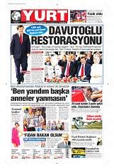 28 Ağustos 2014 Tarihli Yurt Gazetesi