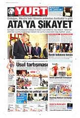 29 Ağustos 2014 Tarihli Yurt Gazetesi