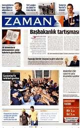 13 Ağustos 2014 Tarihli Zaman Gazetesi