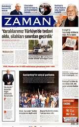14 Ağustos 2014 Tarihli Zaman Gazetesi