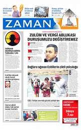 15 Ağustos 2014 Tarihli Zaman Gazetesi