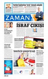 18 Nisan 2015 Tarihli Zaman Gazetesi