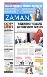 18 May�s 2015 Tarihli Zaman Gazetesi