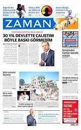 18 Ağustos 2014 Tarihli Zaman Gazetesi