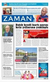 19 Nisan 2015 Tarihli Zaman Gazetesi