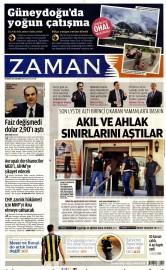 19 A�ustos 2015 Tarihli Zaman Gazetesi