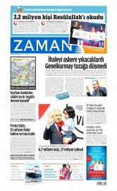 20 Nisan 2015 Tarihli Zaman Gazetesi