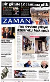 20 A�ustos 2015 Tarihli Zaman Gazetesi