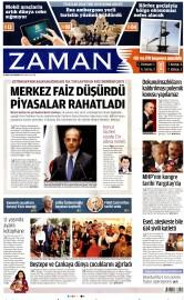 21 Nisan 2016 Tarihli Zaman Gazetesi