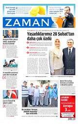 21 Ağustos 2014 Tarihli Zaman Gazetesi
