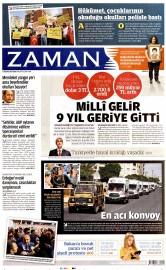 21 A�ustos 2015 Tarihli Zaman Gazetesi
