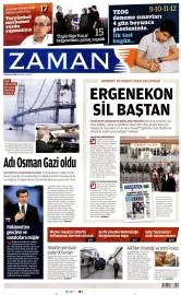 22 Nisan 2016 Tarihli Zaman Gazetesi