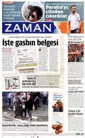 22 A�ustos 2015 Tarihli Zaman Gazetesi