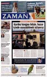 23 A�ustos 2015 Tarihli Zaman Gazetesi
