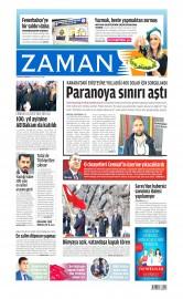 25 Nisan 2015 Tarihli Zaman Gazetesi