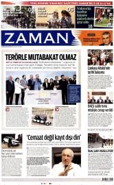 25 Nisan 2016 Tarihli Zaman Gazetesi