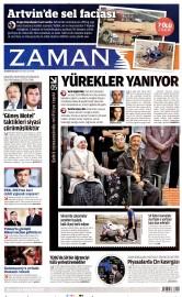 25 A�ustos 2015 Tarihli Zaman Gazetesi