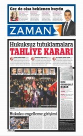 26 Nisan 2015 Tarihli Zaman Gazetesi