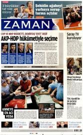 26 A�ustos 2015 Tarihli Zaman Gazetesi