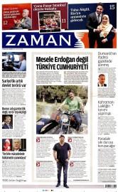 27 Nisan 2016 Tarihli Zaman Gazetesi