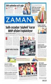 27 May�s 2015 Tarihli Zaman Gazetesi