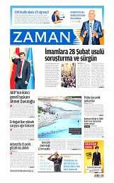 28 Ağustos 2014 Tarihli Zaman Gazetesi