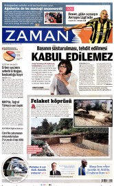 28 A�ustos 2015 Tarihli Zaman Gazetesi