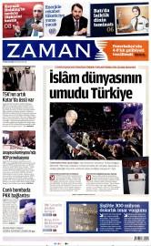 29 Nisan 2016 Tarihli Zaman Gazetesi