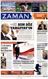 30 Nisan 2016 Tarihli Zaman Gazetesi