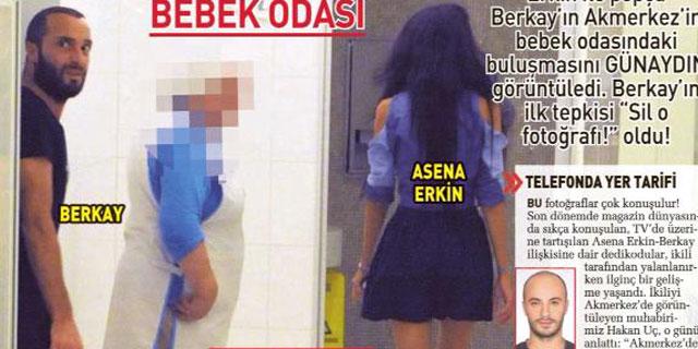 Caner'in eşi Asena, Berkay'la basıldı