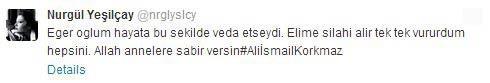 nurgul tweet - Nurg�l Ye�il�ay